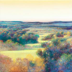 Between blues - 30 x 30 cm - olieverf op paneel - Ger Stallenberg